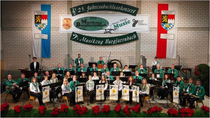 Hauptorchester 2014 des Musikzugs TSV 1895 Burgfarrnbach auf dem 25. Jahresabschlusskonzert
