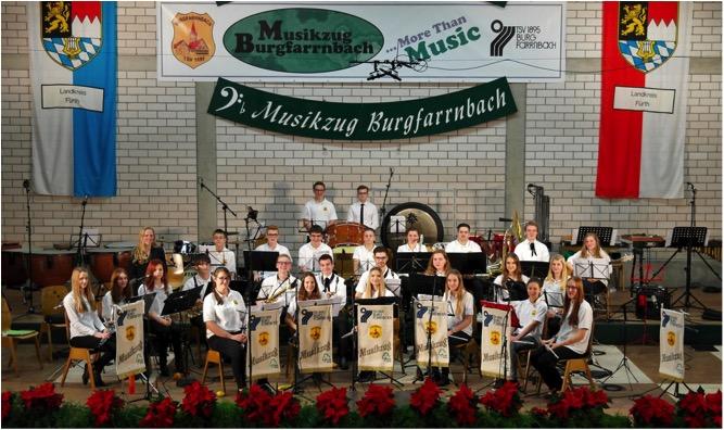 Hauptorchester 2014 des Jugendblaosorchester (JBO) des Musikzugs TSV 1895 Burgfarrnbach auf dem 25. Jahresabschlusskonzert