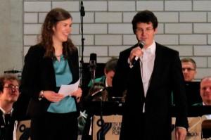 """Claudia Wolf und Mathias Wehr im Interview nach der Uraufführung des Marsches """"Gruß an Fürth""""!"""