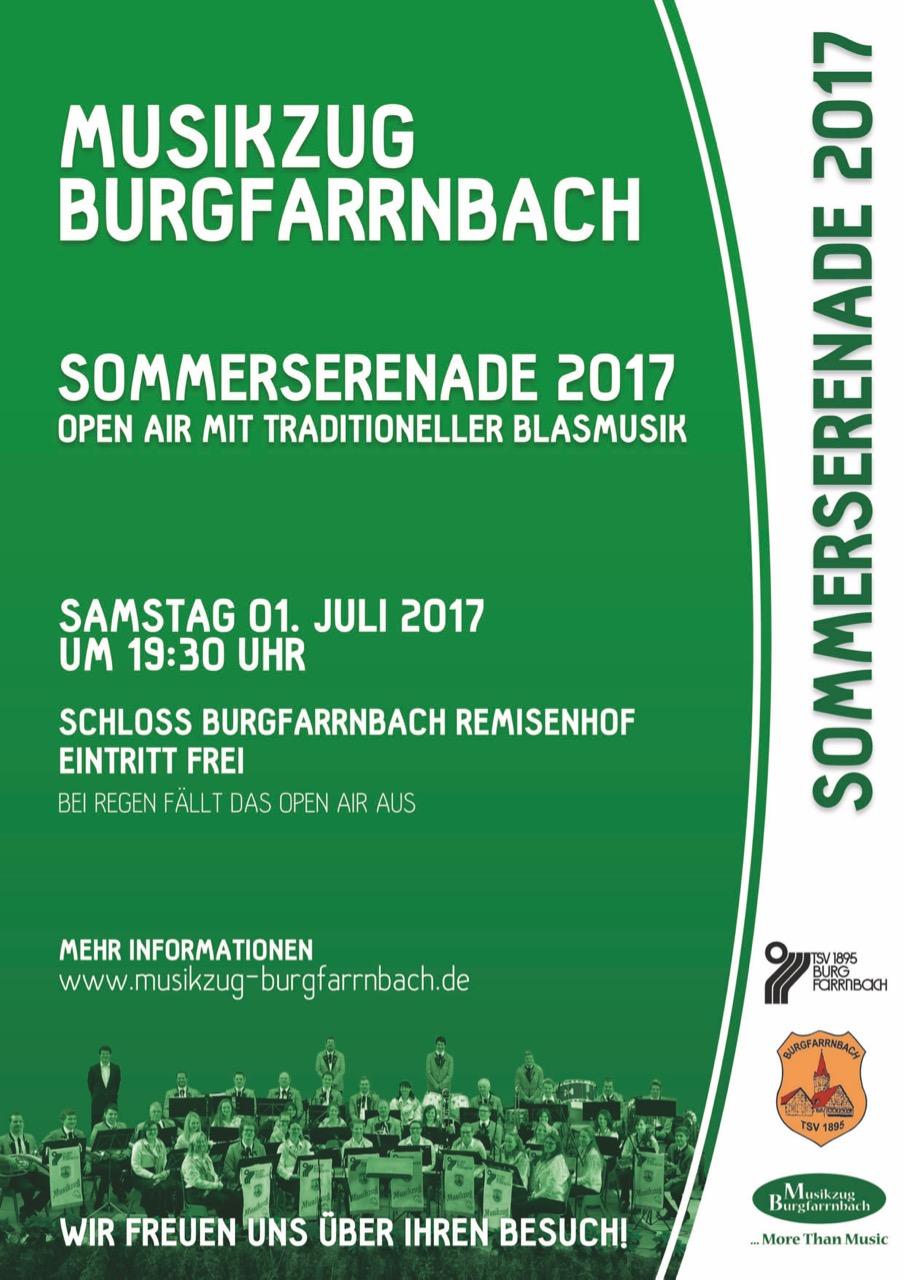 Plakat Open-Air-Serenade im Schloss Burgfarrnbach